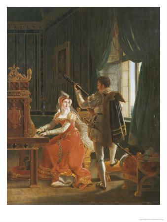 Мария, королева Шотландская, исполняет мелодию в дуэте с мужем, лордом Дарнли.