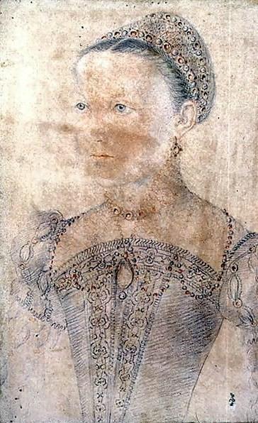 Мария Стюарт, Королева Шотландская, в возрасте девяти лет.