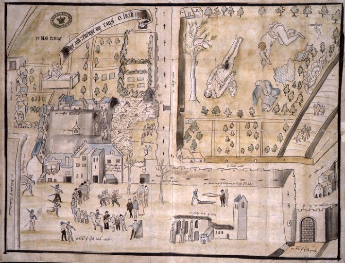 Рисунок поместья Кирк-о-Филд