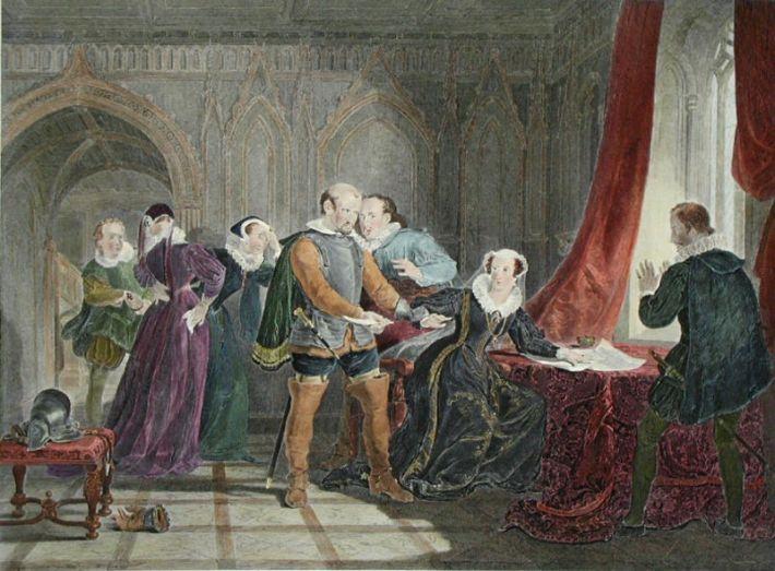Отречение Марии, королевы Шотландской.