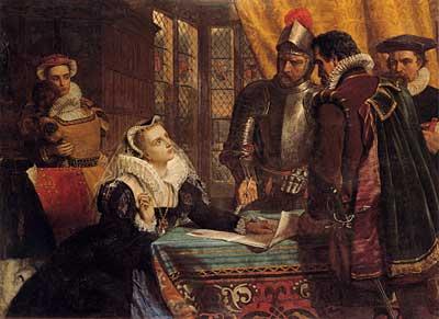 Вынужденное отречение Марии, королевы Шотландской.