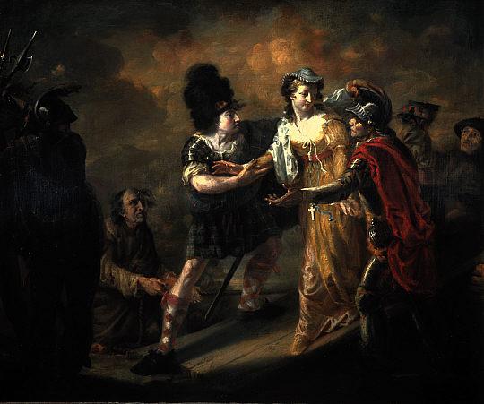 Побег Марии, королевы Шотландской, из замка Лохливен.