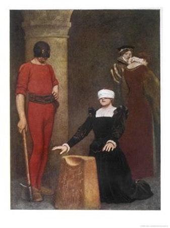 Мария, королева Шотландская, в момент казни в Фотерингей.