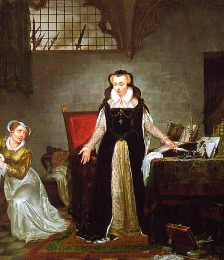 Мария Стюарт направляется на казнь, 8 февраля 1587 года.