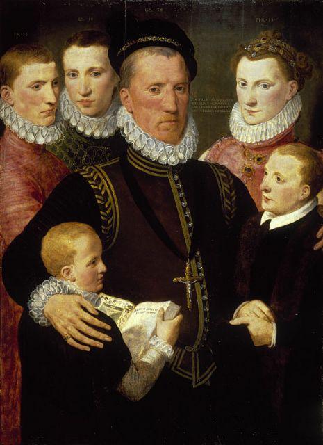 Джордж Сетон с семьей.